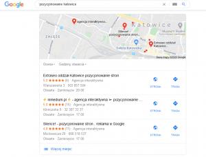 pozycjonowanie lokalne katowice google mapa