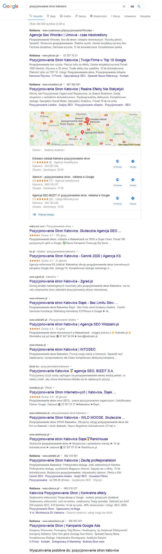 lokalne seo pozycjonowanie katowice google.pl